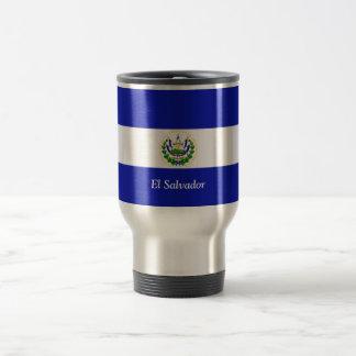 The Flag of El Salvador. Stainless Steel Travel Mug