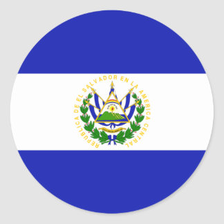The Flag of El Salvador Round Sticker