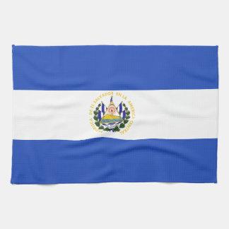 The flag of El Salvador Tea Towel