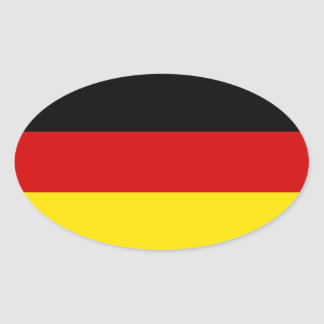 The Flag of Germany Oval Sticker