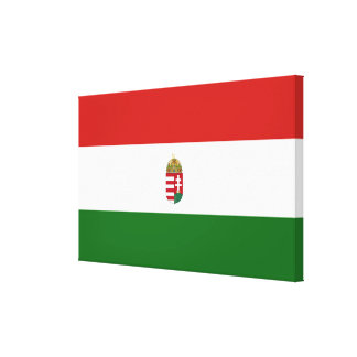 The flag of Hungary Canvas Print