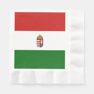 The flag of Hungary Disposable Serviette