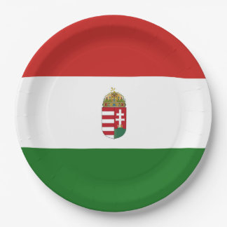 The flag of Hungary Paper Plate