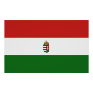 The flag of Hungary Poster