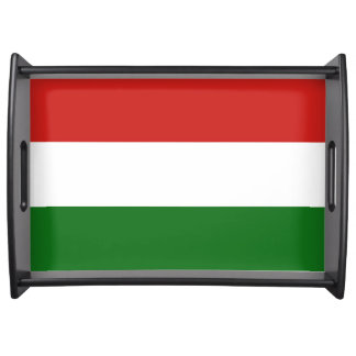 The flag of Hungary Serving Tray