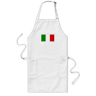 The Flag of Italy Long Apron