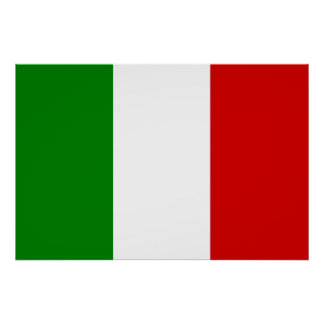 The Flag of Italy Poster