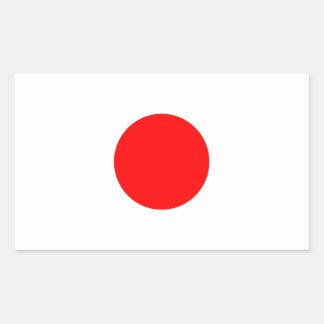 The Flag of Japan Rectangular Sticker