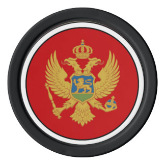 The Flag of Montenegro Poker Chips