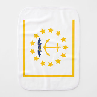 The flag of Rhode Island. Burp Cloth