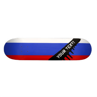 The Flag of Russian 18.1 Cm Old School Skateboard Deck