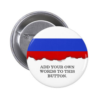The Flag of Russian 6 Cm Round Badge