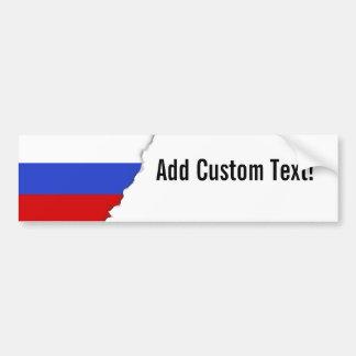 The Flag of Russian Bumper Sticker