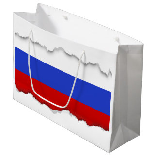 The Flag of Russian Large Gift Bag