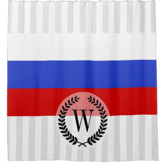 The Flag of Russian Shower Curtain