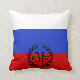 The Flag of Russian Throw Pillow