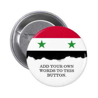 The Flag of Syria 6 Cm Round Badge