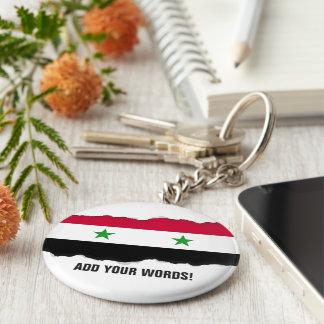 The Flag of Syria Basic Round Button Key Ring