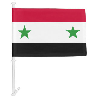 The Flag of Syria Car Flag