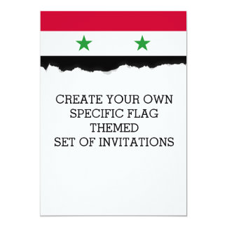 The Flag of Syria Card