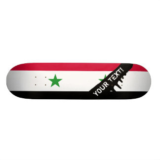 The Flag of Syria Custom Skate Board