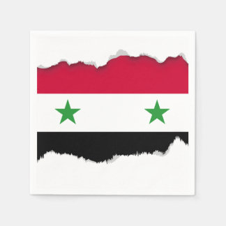 The Flag of Syria Disposable Serviette