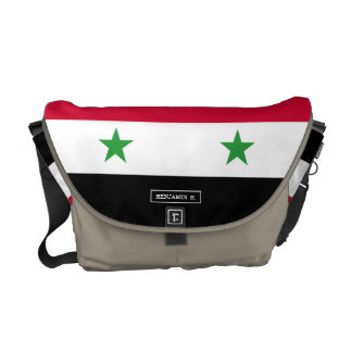 The Flag of Syria Messenger Bags