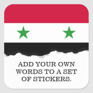 The Flag of Syria Square Sticker