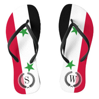 The Flag of Syria Thongs