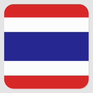 The Flag of Thailand Square Sticker