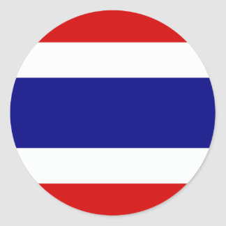 The Flag of Thailand Round Stickers