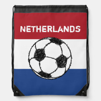 The flag of the Netherlands | Football Drawstring Bag