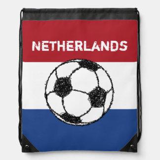 The flag of the Netherlands | Football Drawstring Bag