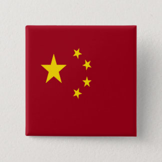 The flag of the People's Republic of China 15 Cm Square Badge