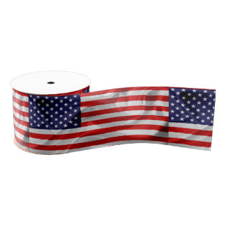The Flag of the United States of America Grosgrain Ribbon