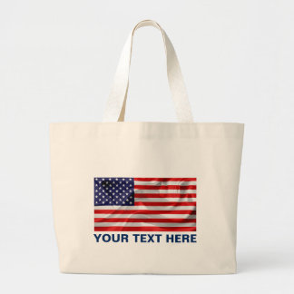 The Flag of the United States of America Large Tote Bag