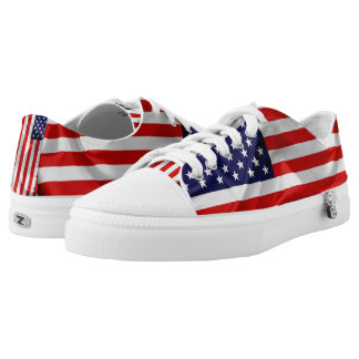 The Flag of the United States of America. Low Tops