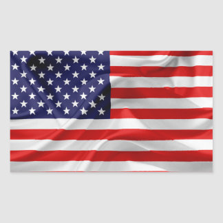 The Flag of the United States of America Rectangular Sticker