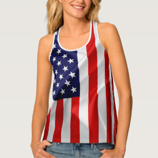 The Flag of the United States of America Singlet