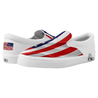 The Flag of the United States of America Slip-On Shoes