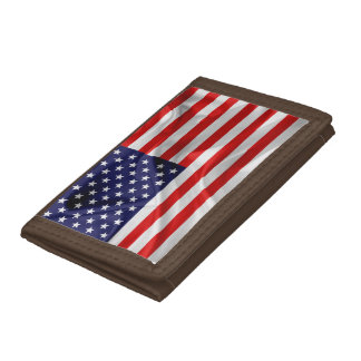 The Flag of the United States of America Trifold Wallet