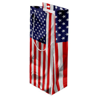 The Flag of the United States of America Wine Gift Bag