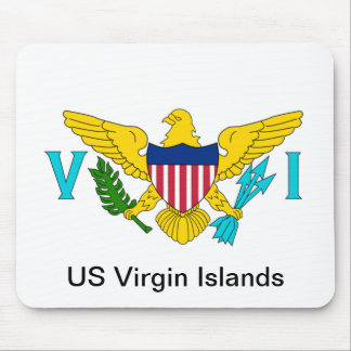 The Flag of the US Virgin Islands Mouse Pad