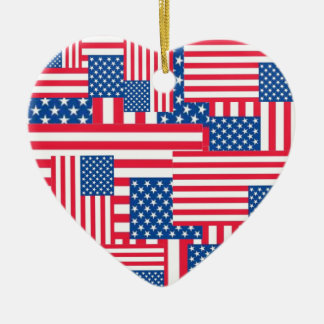 The Flags. Ceramic Heart Decoration