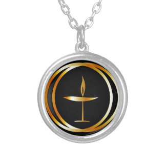 The Flaming Chalice Silver Plated Necklace