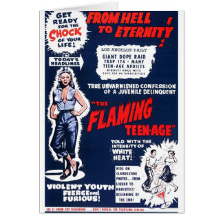 The Flaming Teen-Age Card