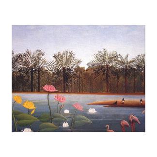 The Flamingos by Henri Rousseau Canvas Print