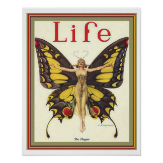 """""""The Flapper"""" Art Deco Life Cover 16 x 20 Poster"""