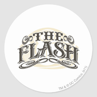 The Flash - It's Showtime! Letters Round Sticker