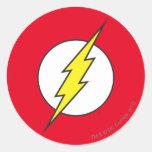 The Flash Lightning Bolt Round Sticker